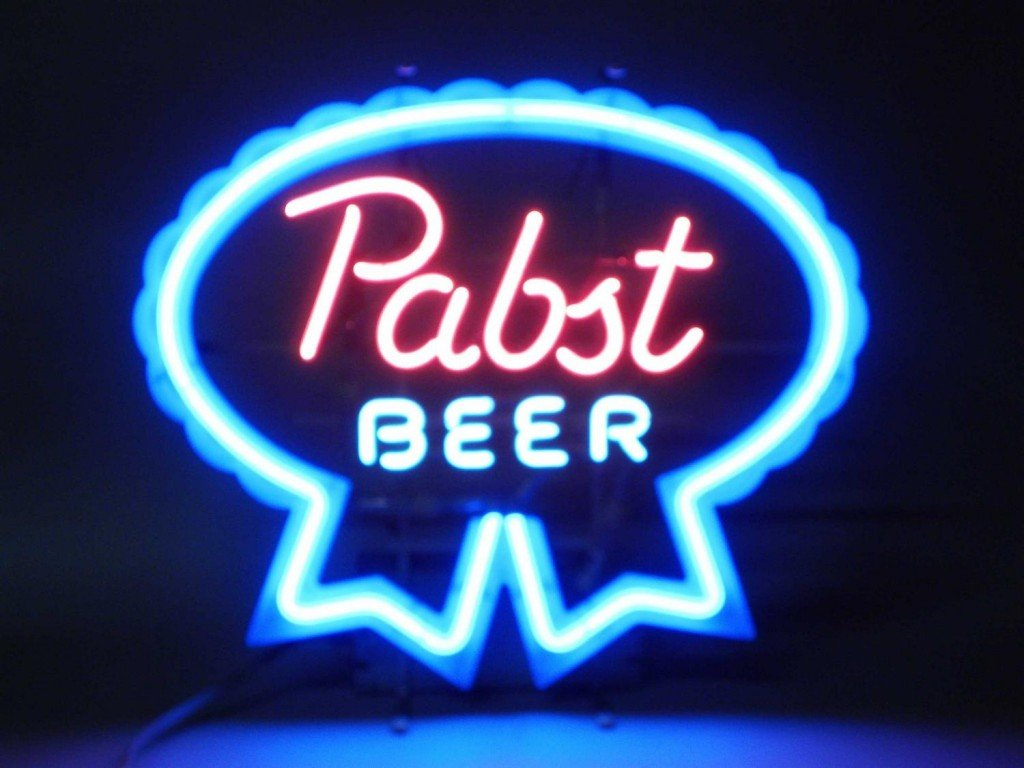 Neon Beer Signs like this Pabst Beer.