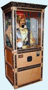 """Full size """"Zoltar"""" fortune teller machine."""