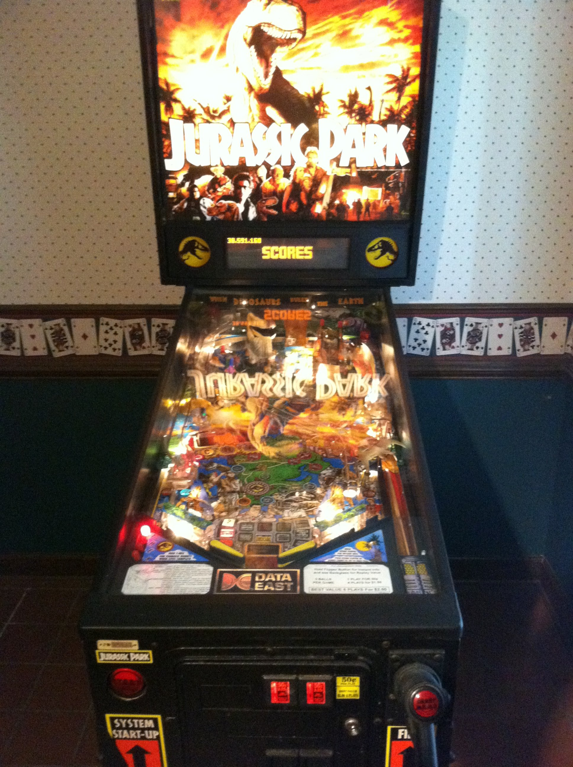 Jurassic Park Pinball Machine For Sale In Tennessee We