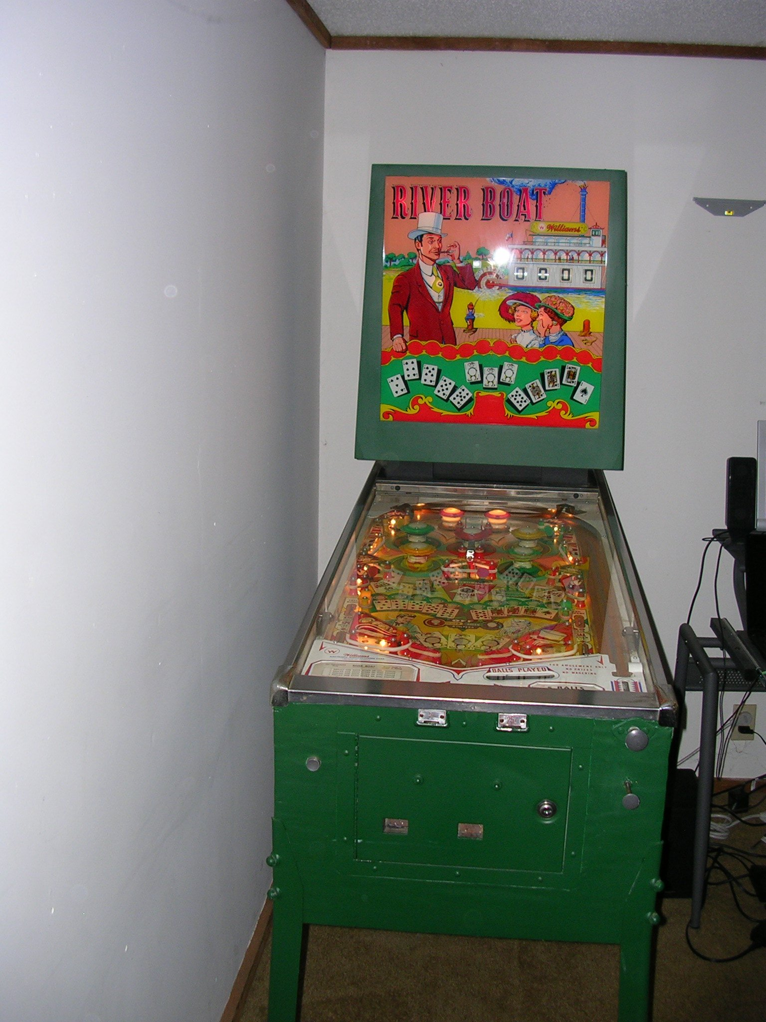 Williams River Boat Pinball Machine For Sale In St Louis