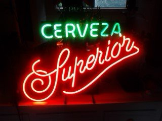 Cerveza Superior neon sign for sale