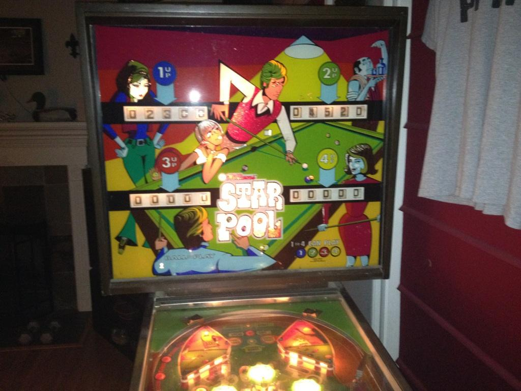 Williams Star Pool Em Pinball Machine For Sale In New