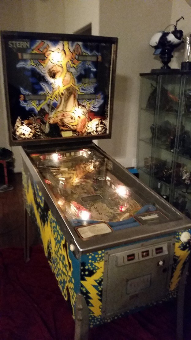 "Stern ""Lightning"" pinball machine for sale."