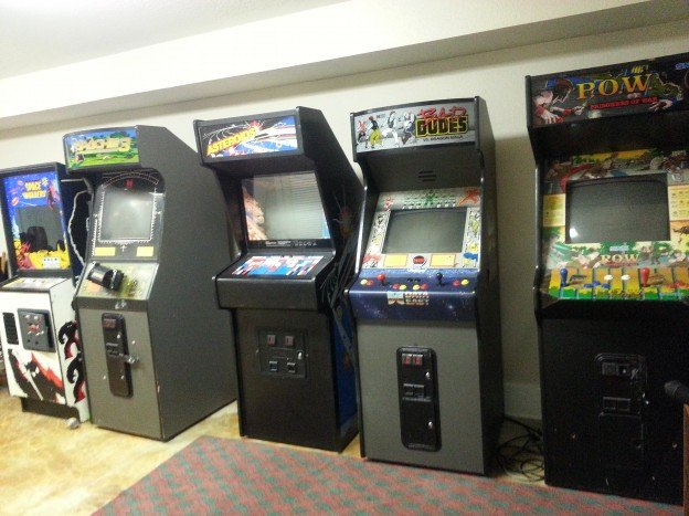 Apache 3, POW Prisoner of War, Bad Dudes, Space Invaders and Asteroids video arcade games for sale.