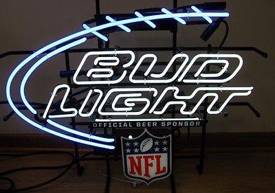 Bud Light NFL neon sign for sale.