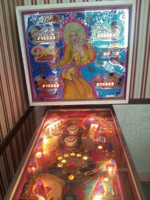 Dolly Parton pinball machine for sale.