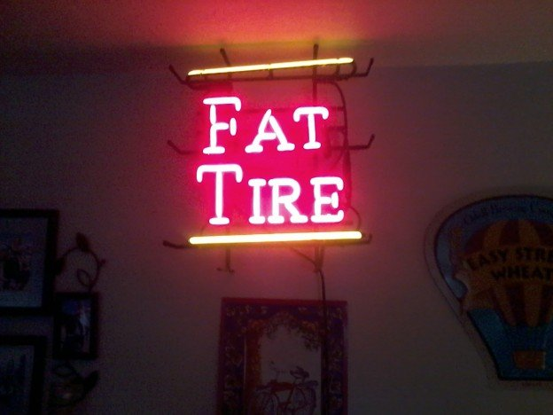 fat tire neon sign for sale