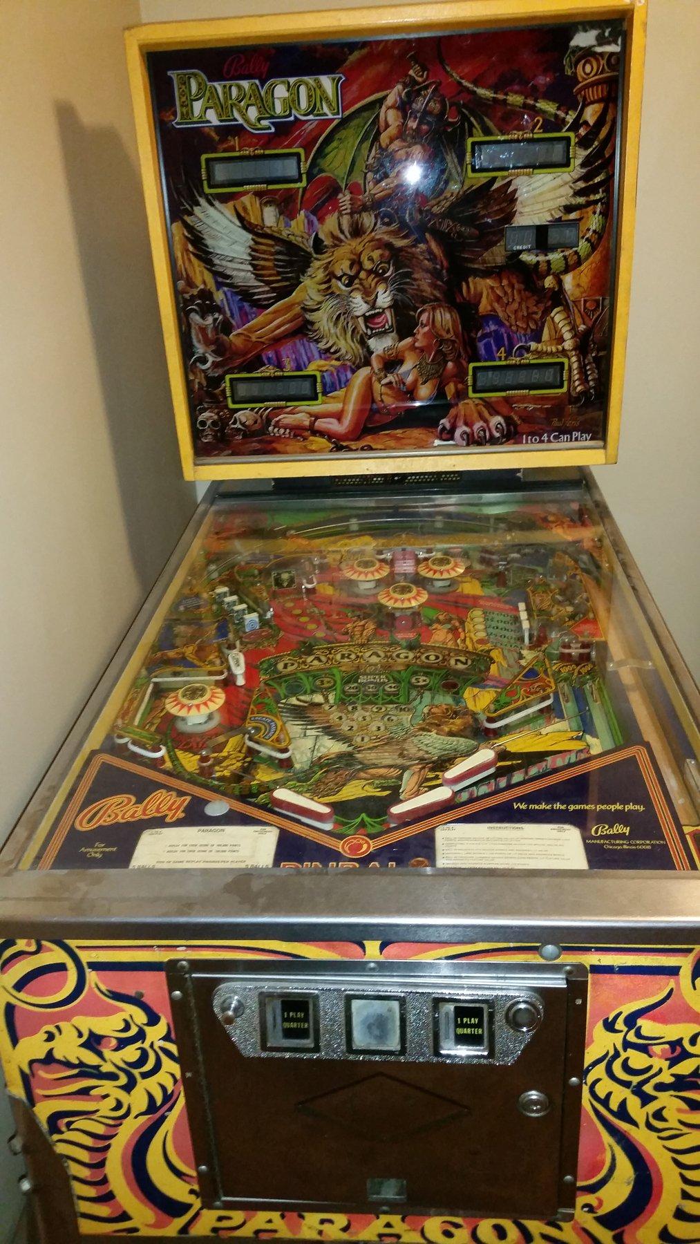 Bally: Paragon & Zaccaria: Devil Rider pinball for sale