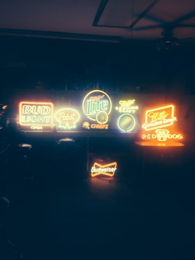 Bud Light, Pabst, Miller light, Budweiser, Red Dog, draft neons signs for sale