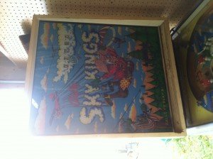 Backglass of Sky Kings pinball machine