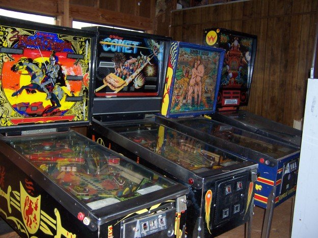 comet + Jungle Lord, Big Guns pinball machines for sale