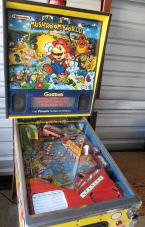 Super Mario Bros Mushroom World Pinball 4 Sale Sacramento Ca