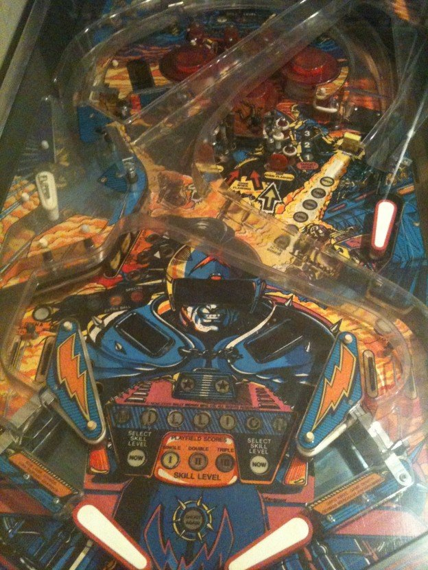 playfield of Bally Motordome pinball machine for sale in Wichita
