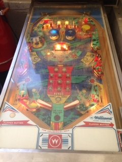 Playfield of Space mission pinball machine
