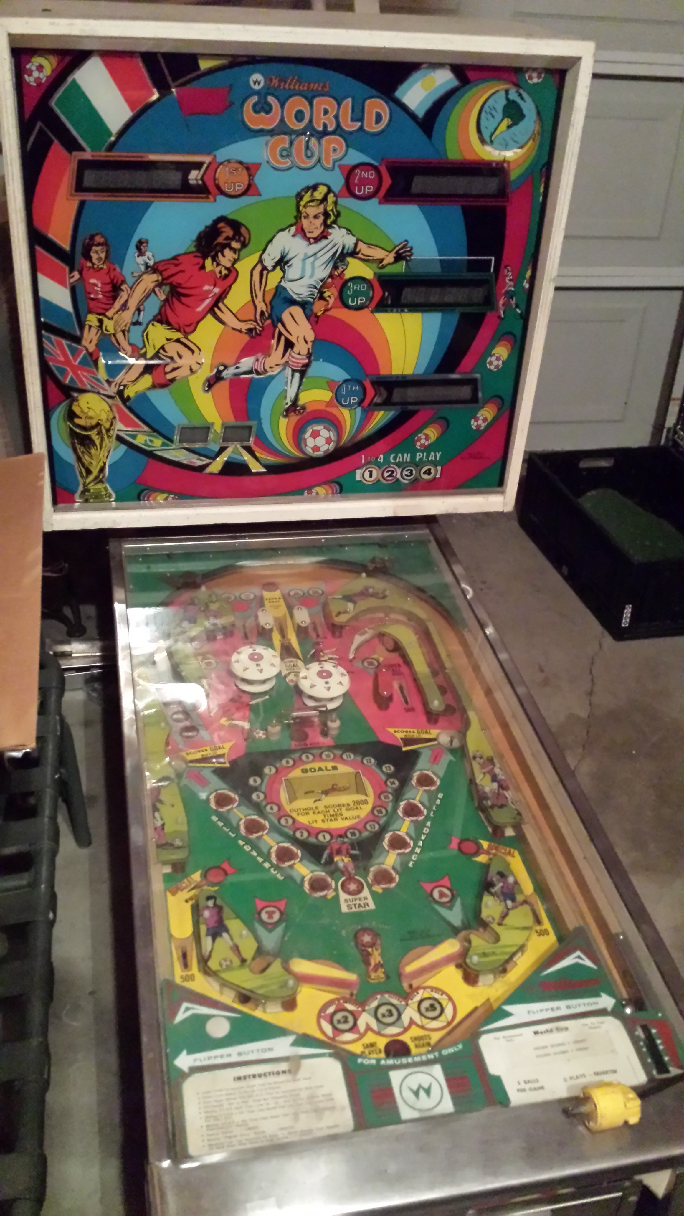 Williams World Cup Pinball Machine For Sale In Alpharetta Ga