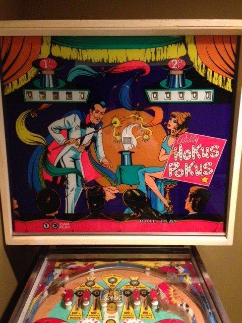 pinball machine backglass for sale
