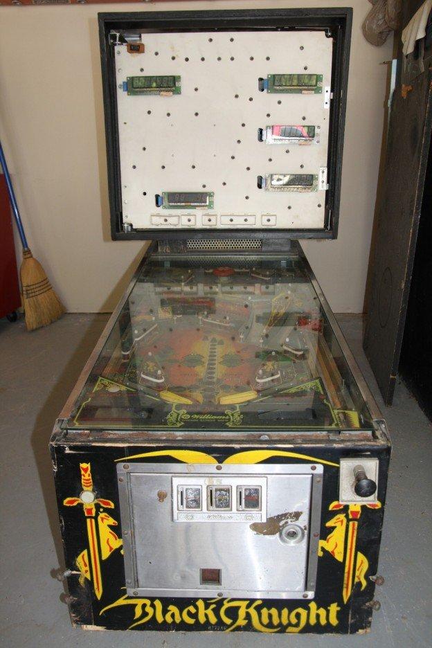 Black Knight pinball machine with no legs