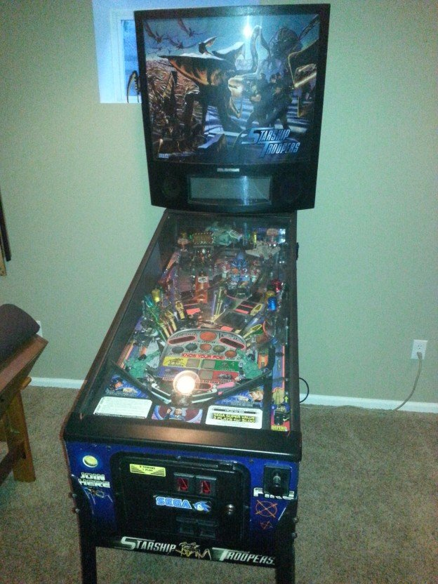 Full game of Starship Troopers pinball machine for sale in North Carolina