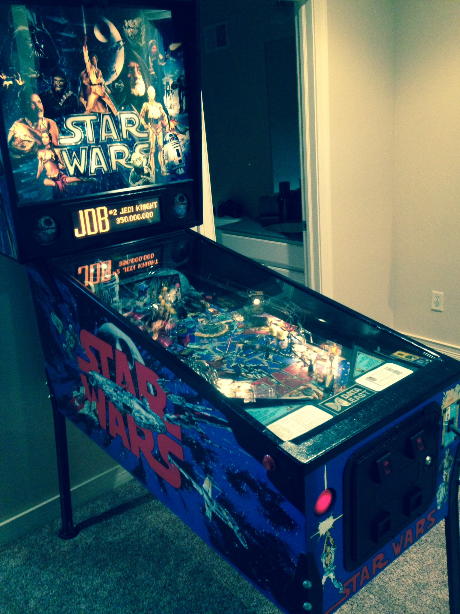 Data East 1992 Star Wars pinball machine for sale in
