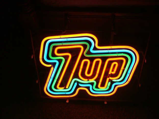 1975 7UP New Old Stock neon sign for sale in Bakersfield California