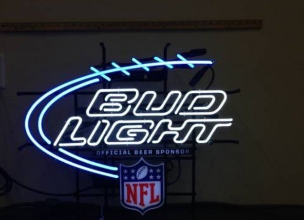 NFL Bud light neon sign for sale in Northwest suburbs of Chicago