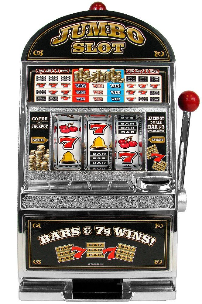 One arm bandit slot machine toy 3 slot ac power cord