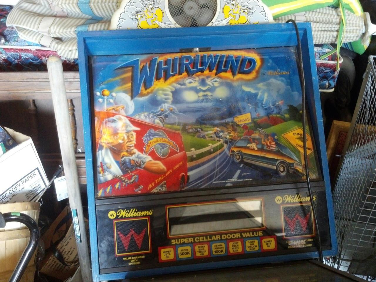 Whirlwind Pinball Machine For Sale In Michigan