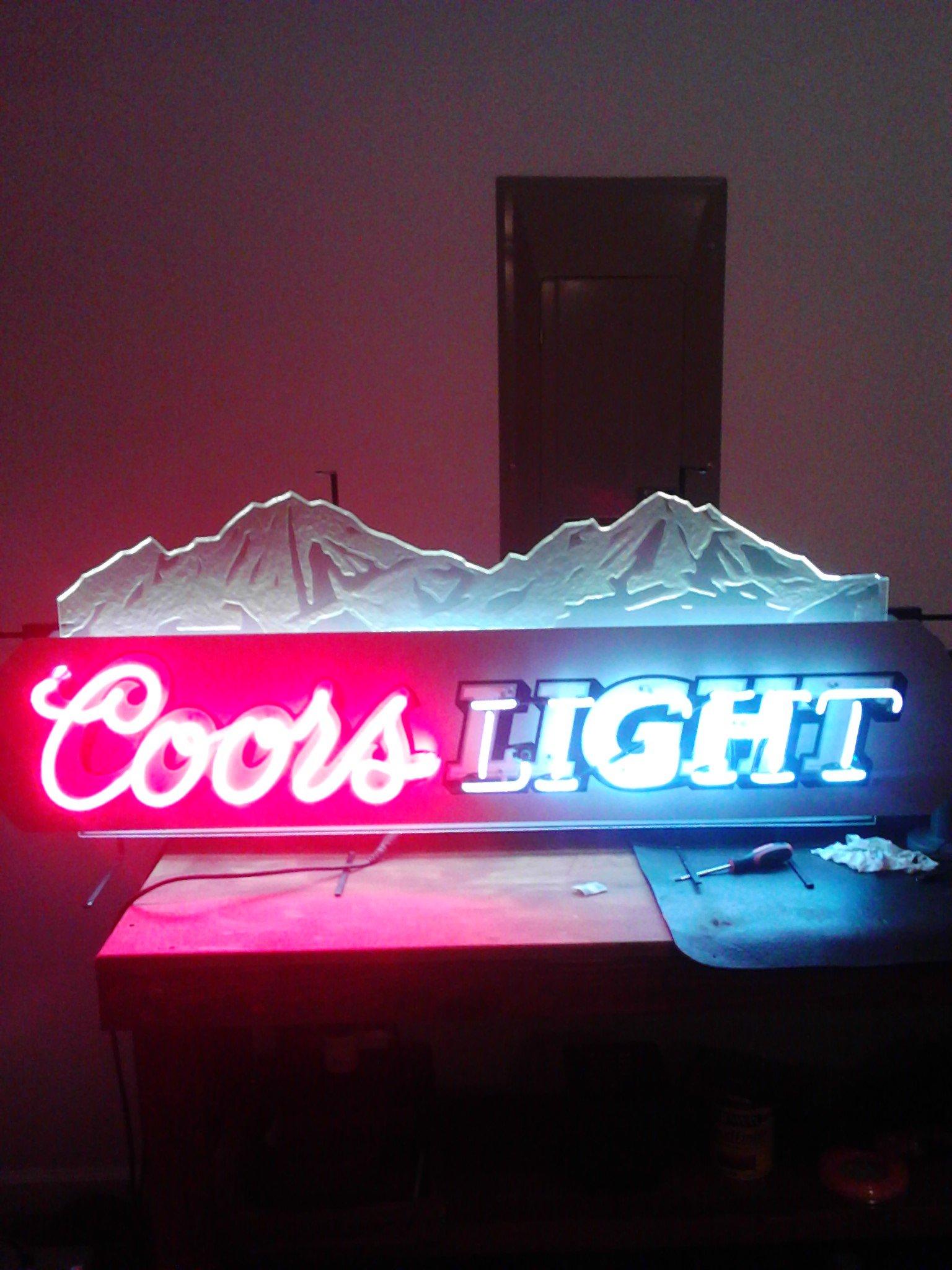 neon coors light sign signs pinball cash