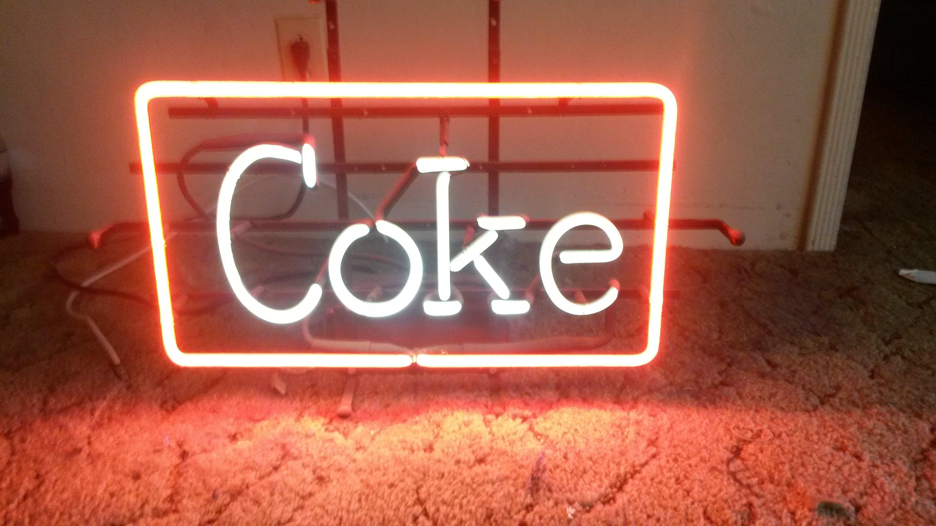 neon coke signs sign miller budweiser guitar lite rancho cucamonga california arcade