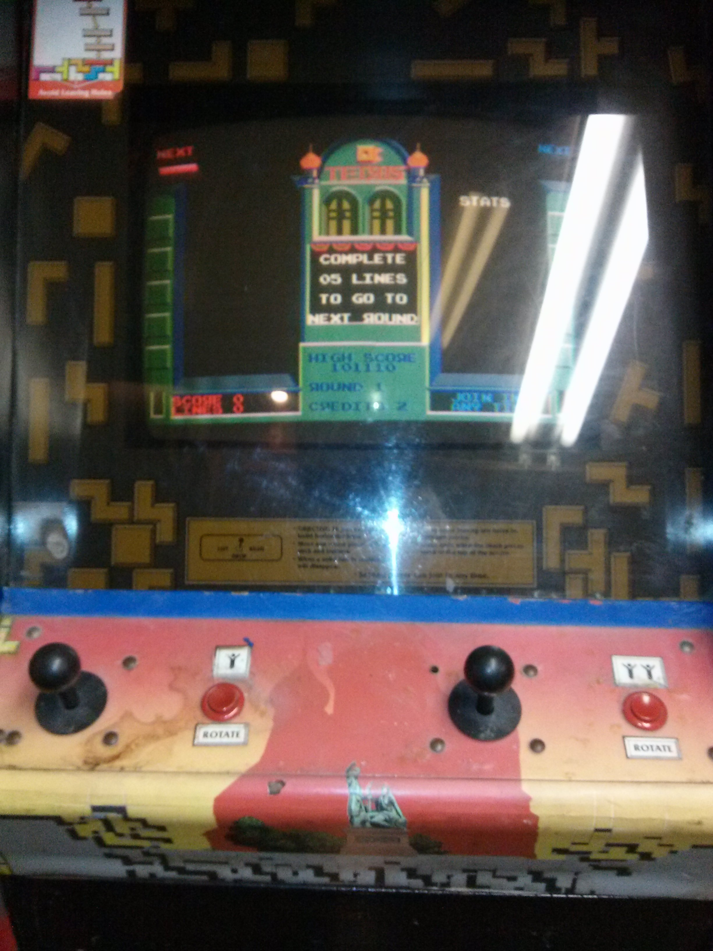Tetris Video Arcade Game For Sale In East Windsor Nj