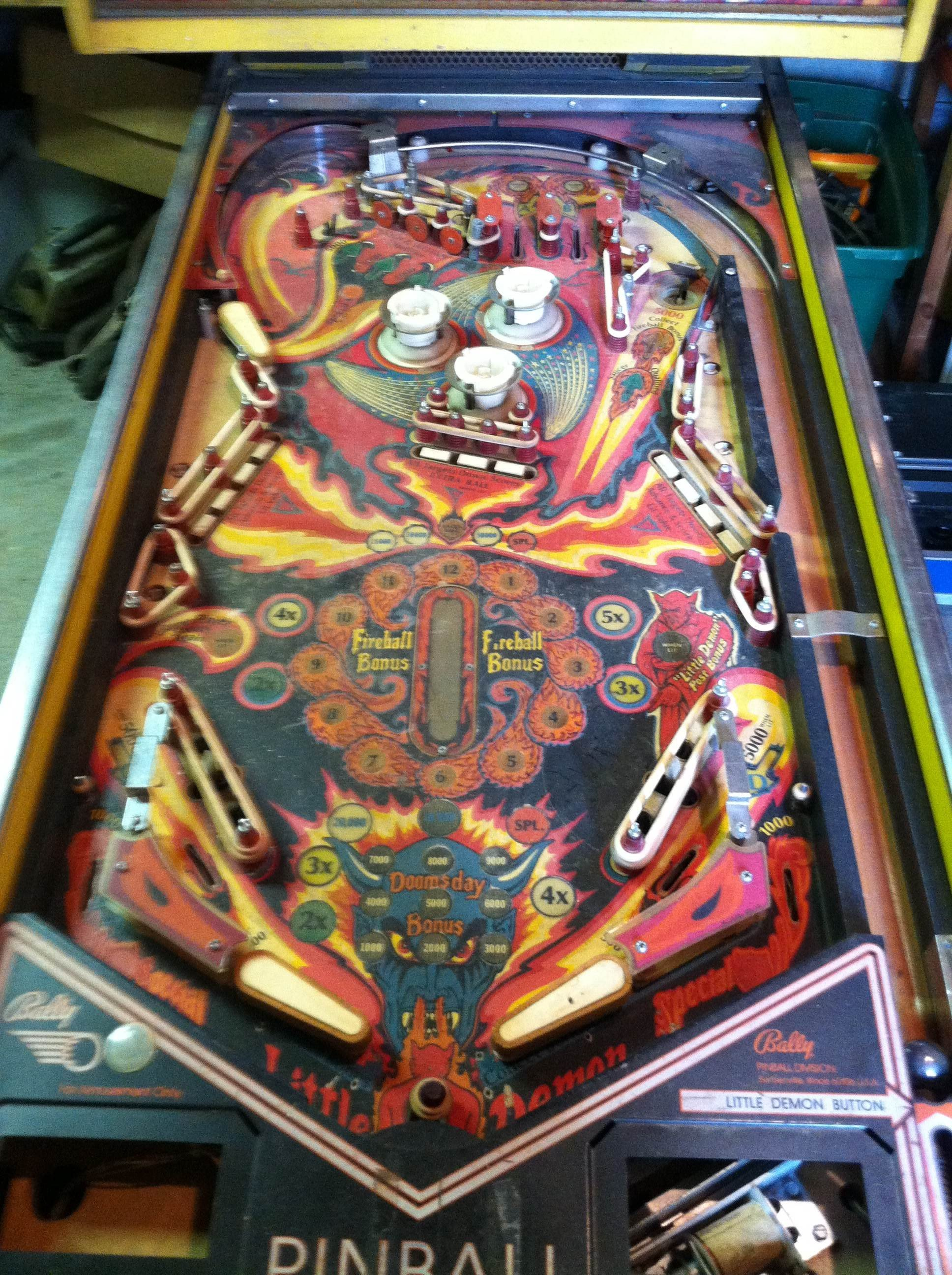 pinball machine fireball